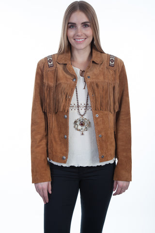 Scully Womens Bourbon Boar Suede Laced Jacket