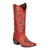 Lane Boots Womens Red Leather Lovesick Stud Vintage Studded Cowgirl