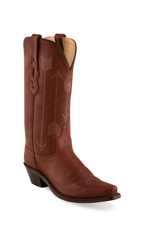Old West Rust Mens Leather 12in Cowboy Boots