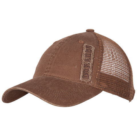 Durango Mens Brown Mesh Embroidered Logo Trucker Hat