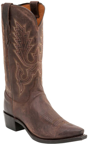 Lucchese Mens Cowboy Boots Cafe Brown Goat Leather