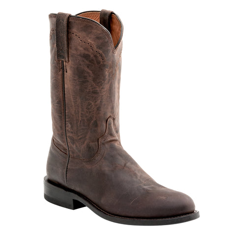 Lucchese Mens Cowboy Boots Chocolate Goat Leather