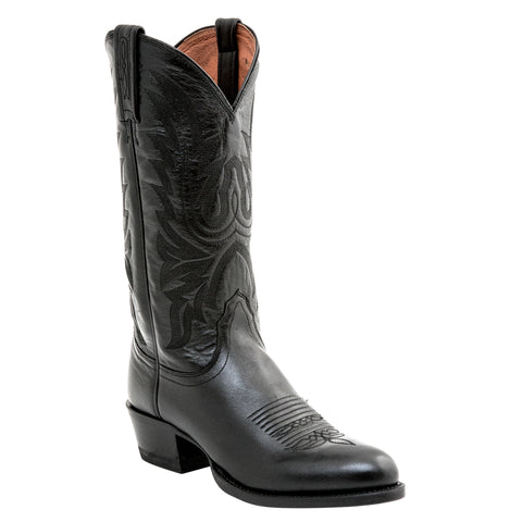 Lucchese Mens Cowboy Boots Black Lonestar Calf Leather