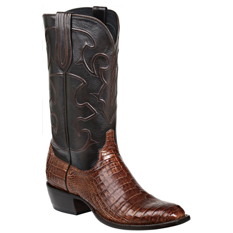 Lucchese Mens Cowboy Boots Sienna Caiman Belly