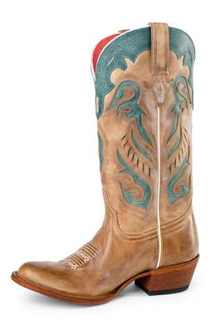 Macie Bean by Anderson Bean Womens Camel Leather Patsy Cowboy Boots