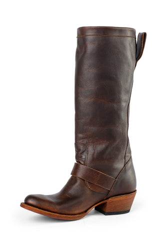 Macie Bean by Anderson Bean Womens Brown Leather Cowboy Boots Middleton