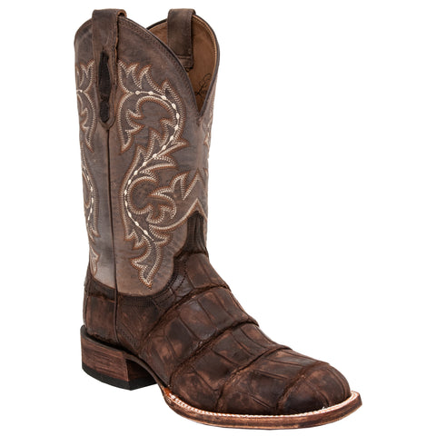 Lucchese Mens Cowboy Boots Cafe Brown Giant American Alligator