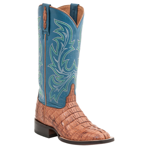Lucchese Womens Cowboy Boots Whiskey Hornback Caiman Tail