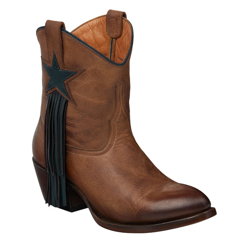Lucchese Womens Fashion Boots Tan Mad Dog Goat Leather
