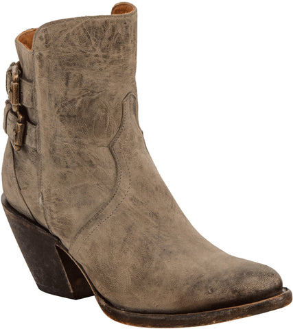 Lucchese Womens Fashion Boots Stonewash Gray Stonewashed Cowhide