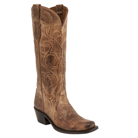 Lucchese Womens Cowboy Boots Tan Mad Dog Goat Leather