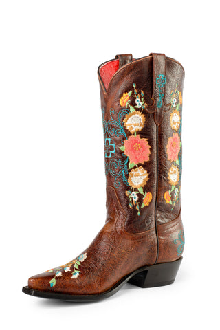 Macie Bean by Anderson Bean Youth Brown Leather Cowboy Boots Sweet 16