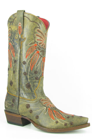 Macie Bean by Anderson Bean Womens Brown Leather Cowboy Boots Monet