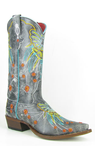 Macie Bean by Anderson Bean Womens Gray Leather Cowboy Boots Monet