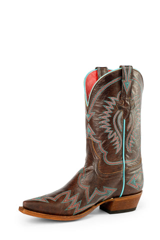 Macie Bean by Anderson Bean Womens Brown Leather Cowboy Boots Raven