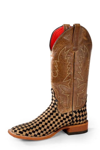 Macie Bean by Anderson Bean Womens Brown Leather Cowboy Boots Check