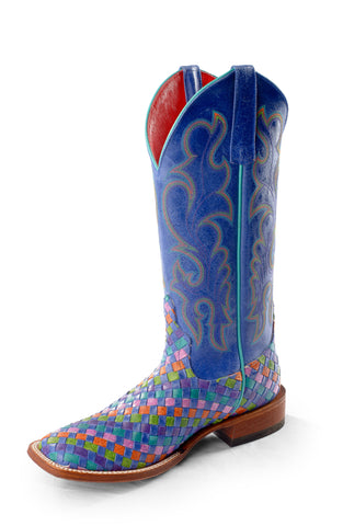 Macie Bean by Anderson Bean Womens Royal Leather Cowboy Boots Fruitti