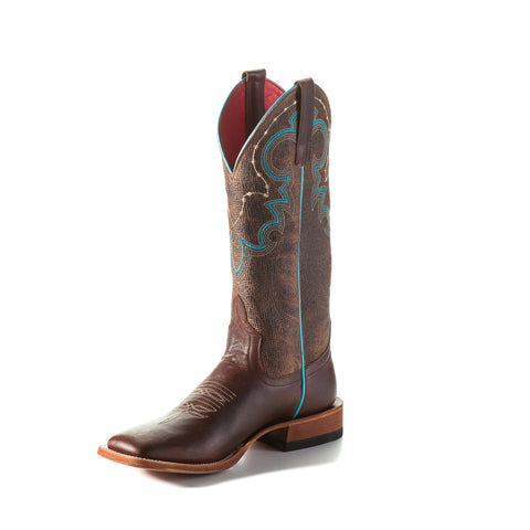 Macie Bean by Anderson Bean Womens Brown Goat Leather Cowboy Boots Juke