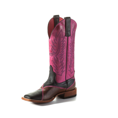 Macie Bean by Anderson Bean Womens Pink Leather Cowboy Boots Shabby Chic