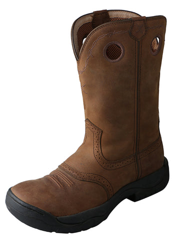 Twisted X Mens Brown Leather Distressed K Toe All Around Cowboy Boots