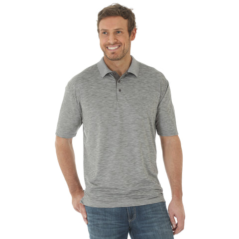 Wrangler Mens Grey Polyester 20X AC S/S Polo Shirt