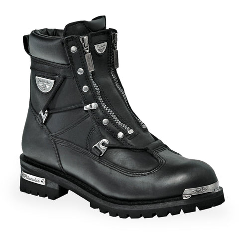 Milwaukee Throttle Womens Motorcycle Boots Black Leather