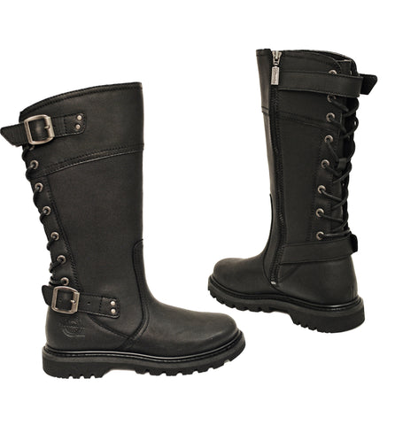 Milwaukee Motorcycle Clothing Company Womens Delusion Boots Black, Size 9.5B