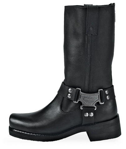 Milwaukee Milw Classic Mens Motorcycle Boots Black Leather