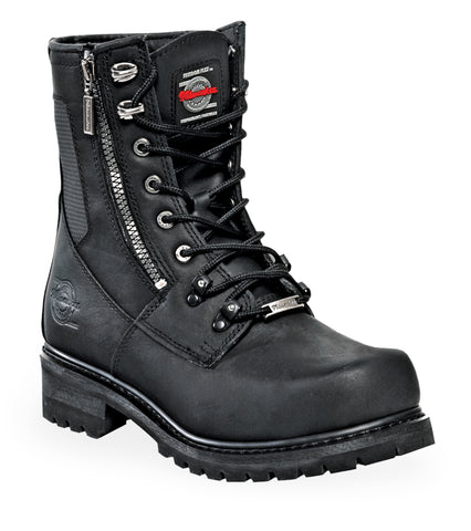 Milwaukee Trooper Mens Motorcycle Boots Black Leather
