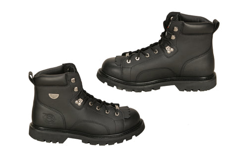 Milwaukee Nightrider Mens Motorcycle Boots Black Leather