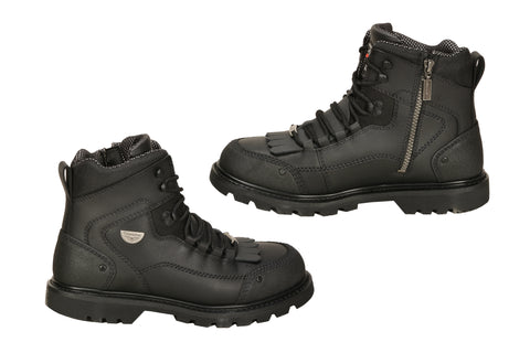 Milwaukee Explorer Mens Motorcycle Boots Black Leather