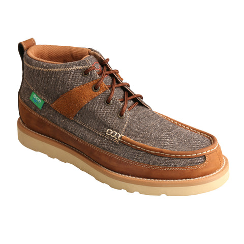 Twisted X Mens Dust/Brown Leather/Canvas ECO Casual Boots