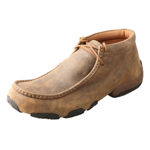 Twisted X Mens Bomber Leather Driving Mocs Casuals for Cowboys Boots