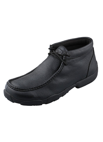 Twisted X Mens Black Leather Driving Mocs Casuals for Cowboys Boots