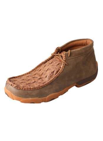 Twisted X Mens Bomber Ostrich Skin Chukka Casuals for Cowboys Boots