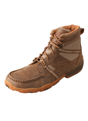 Twisted X Mens Bomber Leather LaceUp Mocs Casuals for Cowboys Boots