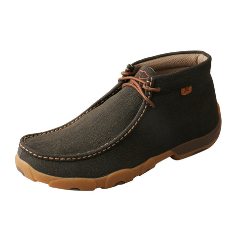 Twisted X Chukka Driving Moc Rubberized Brown Mens Leather Ankle Boots