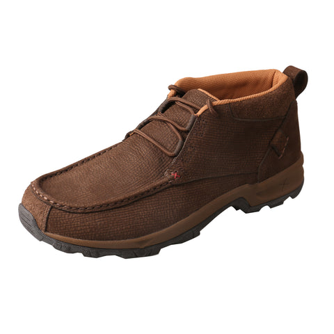 Twisted X Mens Chocolate Leather Hiker Casual Boots