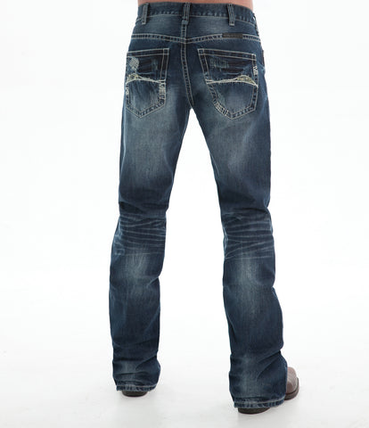 B Tuff Mens Dark Wash 100% Cotton Jeans Crosshatch Horsepower