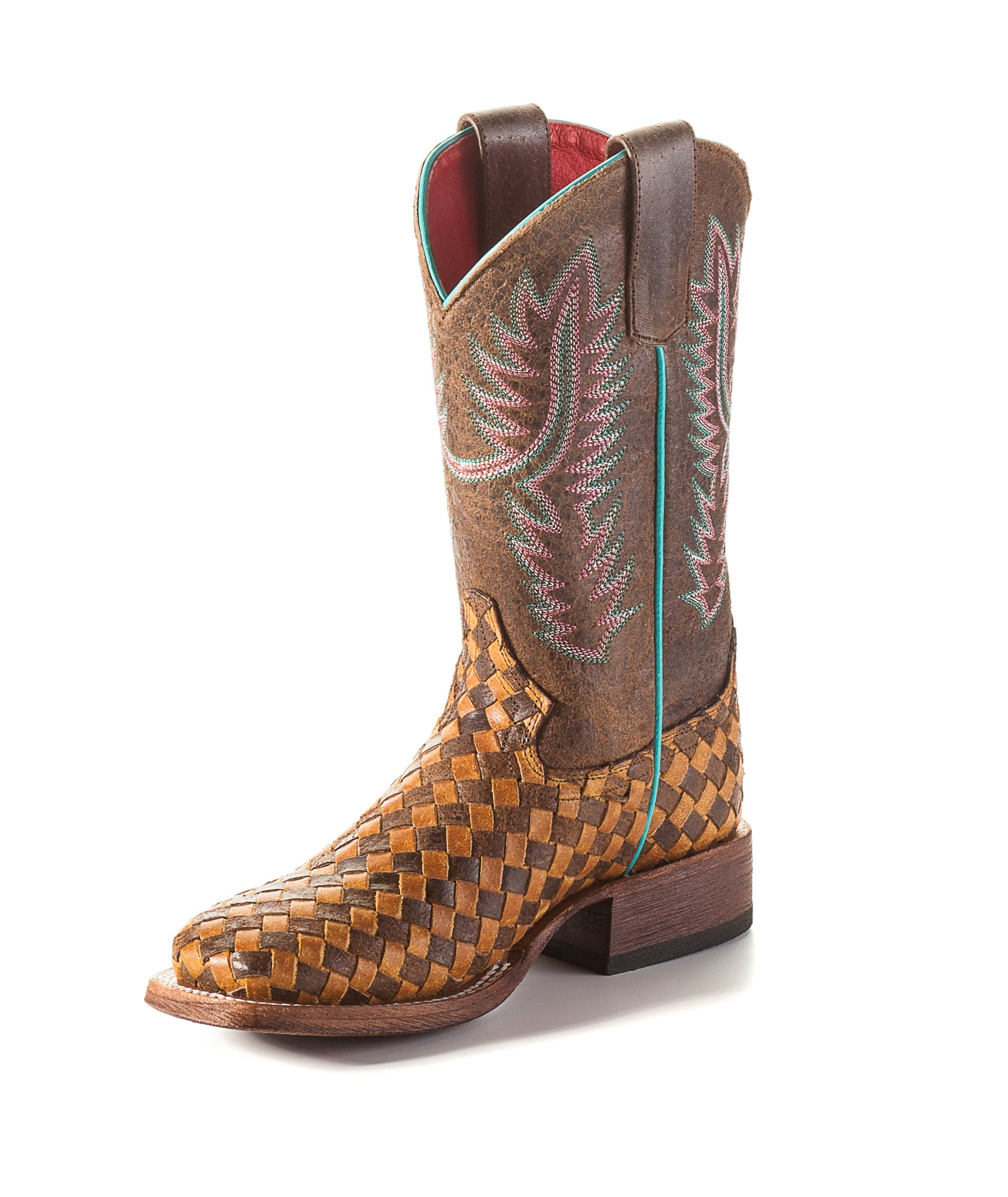 b8e8a46aab9 Macie Bean by Anderson Bean Kids Honey Leather Cowboy Boots Unbeweavable