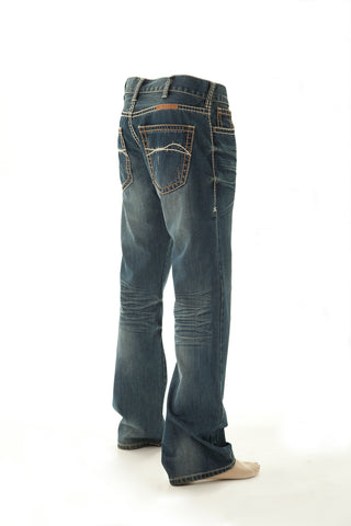 B Tuff Mens Blue Cotton Denim Jeans Bootcut Nitro