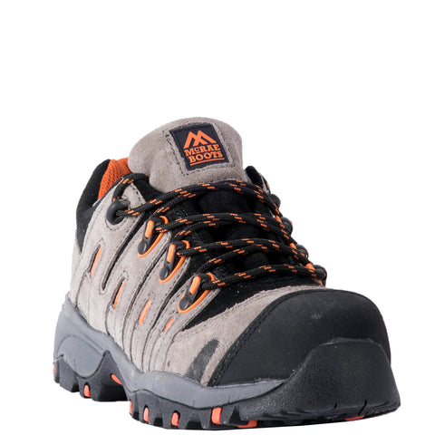 McRae Womens Composite Toe Hiker Work Shoes Leather Grey