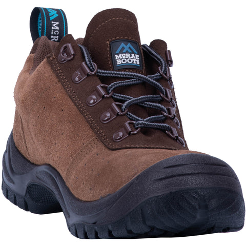 McRae Mens Tan Work Boots Leather Steel Toe