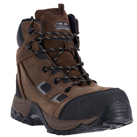 McRae Mens Framer Comp Toe Work Boots Leather Brown