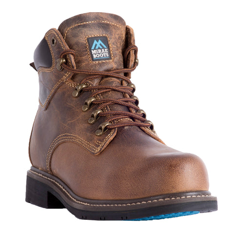 McRae Industrial Mens Brown Work Boots Leather Work Boots CT