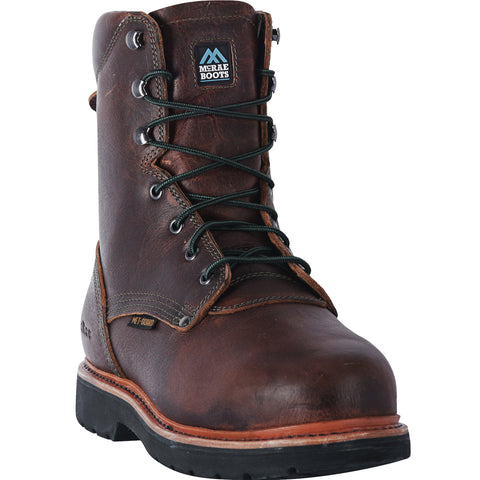 McRae Industrial Mens Brown Extreme MetGuard ST Work Boots Leather