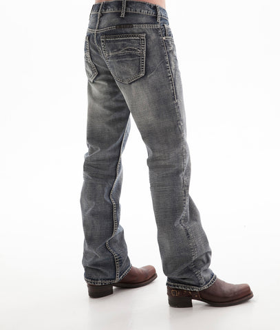 B Tuff Mens Blue Cotton Denim Jeans Bootcut Steel