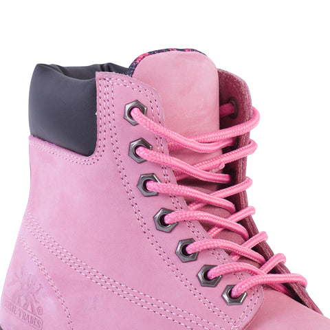 Moxie Trades Womens Pink Leather Alice 6in ST PR Work Boots
