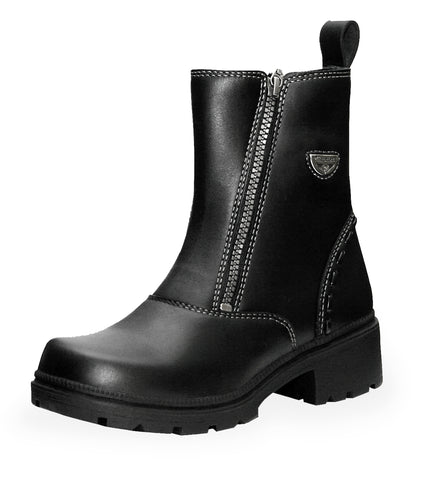 Milwaukee Destiny Womens Motorcycle Boots Black Leather