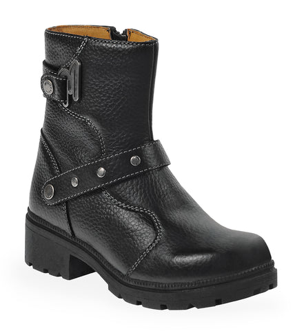 Milwaukee Delusion Womens Motorcycle Boots Black Leather